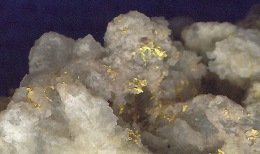Sichtbare Goldvererzung; Foto: Adamus Resources