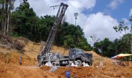 Bohrungen auf dem Selinsing-Projekt von Monument Mining in Malaysia