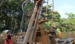 Bohrarbeiten der Monument Mining; Foto: Monument Mining