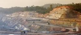 Die Rosebel-Mine von Iamgold in Surinam