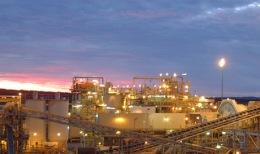 Produktionsanlage auf einer Mine von Barrick Gold; Foto: Barrick Gold