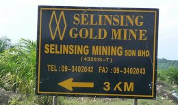 Das Selinsing-Goldmine von Monument Mining in Malaysia