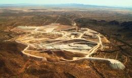 El Chanate Mine des Goldproduzenten AuRico Gold, ca. 37 km nordöstlich von Caborca, Mexiko