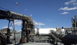 Die Mühle auf der Jerritt Canyon-Liegenschaft von Yukon-Nevada Gold