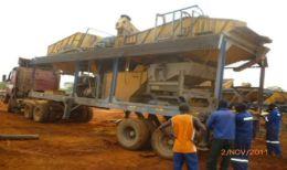 Anlieferung der DMS-Anlage auf dem Luisha South-Projekt von African Metals