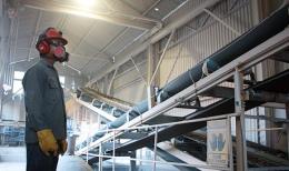 Endeavour Silver - Erzförderband in der Guanacevi-Anlage