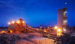 Produktionsanlage der Newcrest Mining in der Elfenbeinküste; Foto: Newcrest Mining
