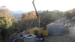 Bohrgerät auf dem Pinargozu-Projekt; Foto: Pasinex Resources