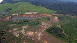 Luftansicht der Sao Jorge-Lagerstätte; Foto: Brazil Resources