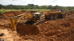 Abbau alluvialer Diamanten auf der Lulo-Konzession; Foto: Lucapa Diamond