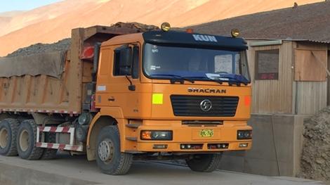 Montan Mining_Erzanlieferung auf der Mollehuaca-Anlage