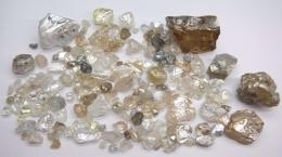 Diamanten vom Lulo-Projekt der Lucapa Diamond Company; Lucapa Diamond