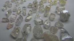 Diamanten aus dem fünften Verkauf von der Lulo-Konzession; Foto: Lucapa Diamond Company