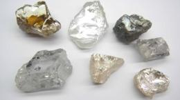 Außergewöhnliche Diamanten von Block 8 der Lulo-Konzession; Foto: Lucapa Diamond