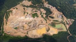Luftansicht der Selinsing-Mine; Foto: Monument Mining