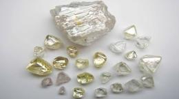 Diamanten aus dem jüngsten Verkaufspaket mit insgesamt 1.399 Karat; Foto: Lucapa Diamond