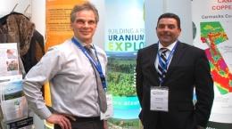 Michael Gunning and Jonathan Armes von ALX Uranium auf der Edelmetallmesse; Foto: Zimtu Capital