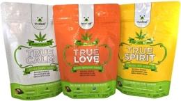 Aktuelle Produktpalette der True Leaf Medicine; Foto: True Leaf Medicine