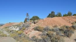 Mountain View-Mine mit Zink in Gesteinshalden; Foto: Nevada Zinc