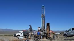 Bohrungen auf dem Lone Mountain-Projekt; Foto: Nevada Zinc