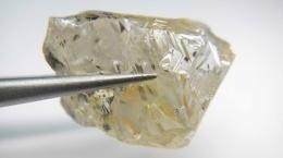Diamant vom besonders wertvollen Typ IIa von Abbaugebiet E46; Foto: Lucapa Diamond