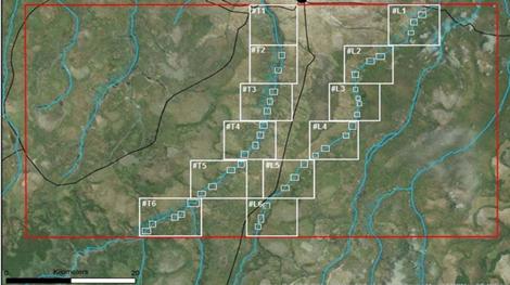 Alluviale Explorationsziele auf der Dala-Konzession; Quelle: Gem International Resources