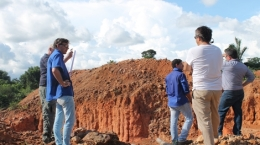 Besuch der Experten von Cartesian Royalty auf dem Cajueiro-Projekt; Foto: Equitas Resources
