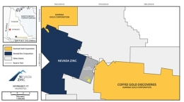 Die Lage der VIP-Liegenschaft von Nevada Zinc; Quelle: Nevada Zinc