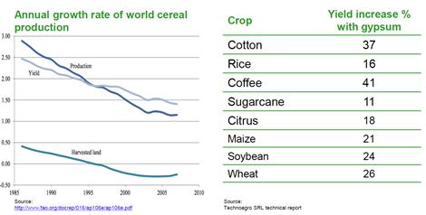 Entwicklung der Lebensmittelproduktion; Quelle: Centurion Minerals