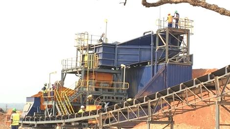 Neues Front-End der Lulo-Anlage; Foto: Lucapa Diamond