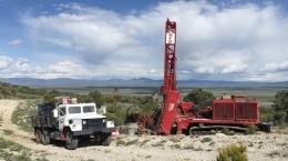 Bohrung auf Lone Mountain; Foto: Nevada Zinc