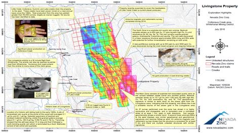 Livingstone-Liegenschaft; Quelle Nevada Zinc