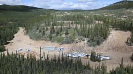 Luftansicht des Carmacks-Projekts von Copper North Mining; Foto: Copper North Mining