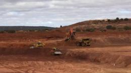 Tagebau auf der Matilda-Mine; Foto: Blackham Resources