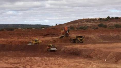 Abbau in der Grube M10; Foto: Blackham Resources