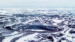 Luftansicht der Jericho-Diamantmine; Quelle: Wikipedia