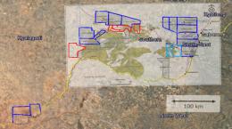 Das Projektgebiet von Giyani Gold in Botswana; Quelle: Giyani Gold