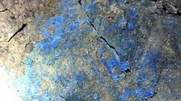 Kupfervererzung auf der Madison-Mine; Foto: Broadway Gold Mining