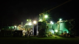 Selinsing-Mine bei Nacht; Foto: Monument Mining