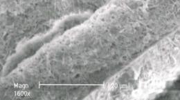 Mit Nanotubes versetzer Stoff (Prototyp); Quelle: I-Minerals